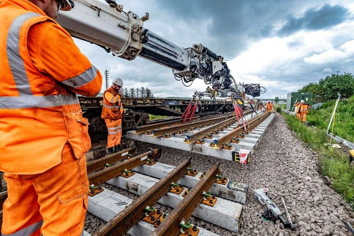 The Huntly-Aberdeen line will fully open on Tuesday