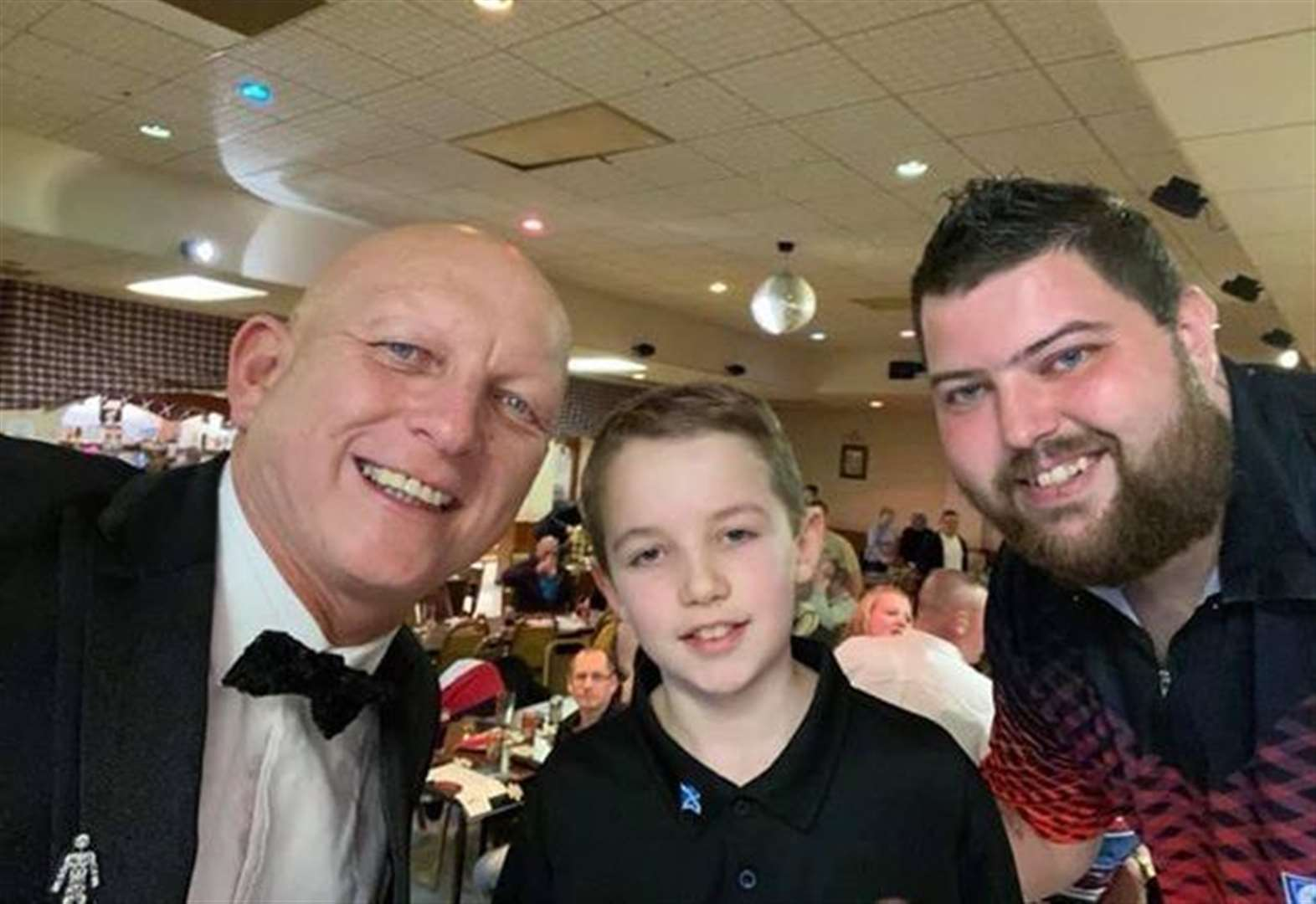 Darts star Michael Smith entertains Elgin crowd