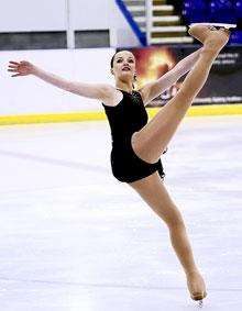 Ice maiden... Rowena Mackessack-Leitch shows the form which has earned her a GB call-up.