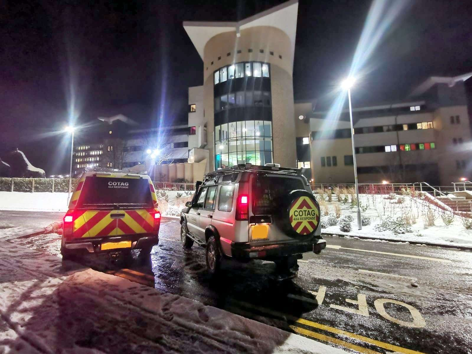 COTAG 4x4 Response has been transporting key NHS personnel to and from both Aberdeen Royal Infirmary and Dr Gray's Hospital in Elgin.