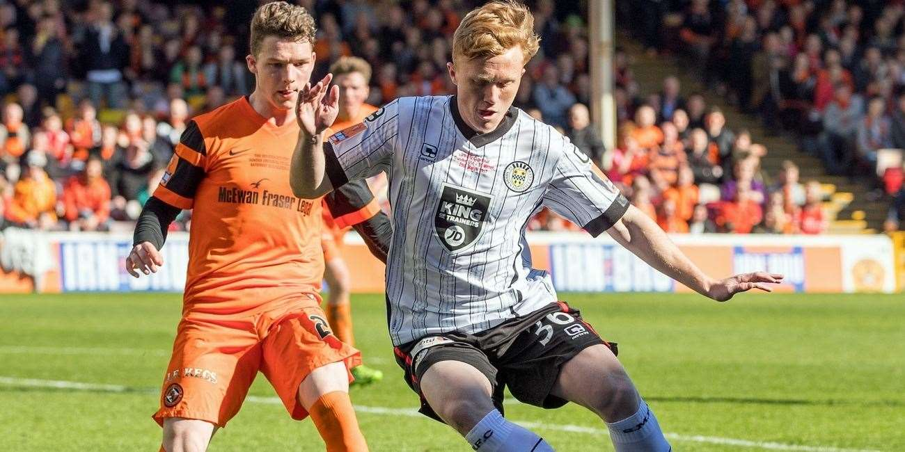 Conor O'Keefe in action for St Mirren. Photo: St Mirren website