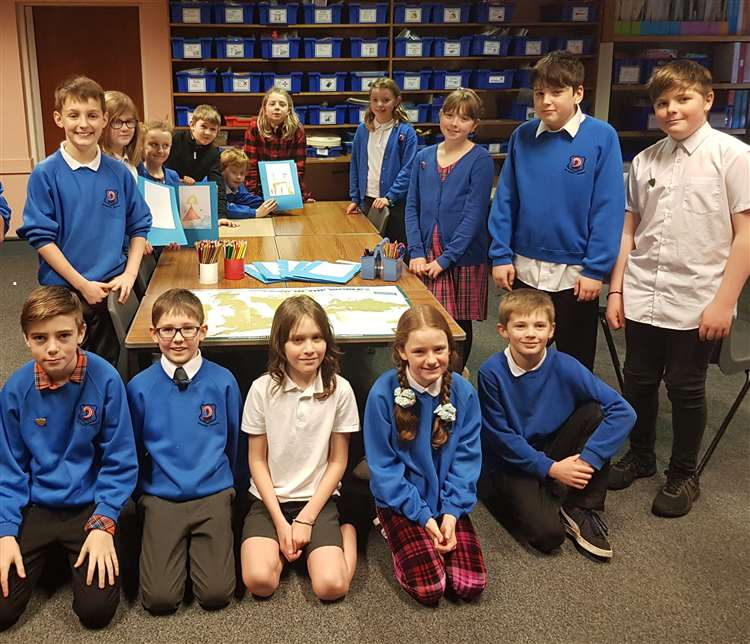 Hythehill Primary School's pupils benefitting from the military wellbeing scheme.