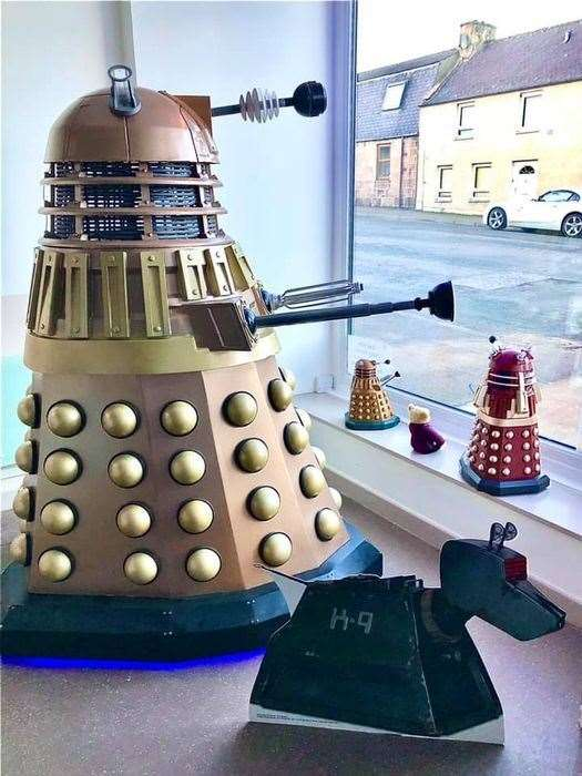 Dave the Dalek along with his robot dog friend K9.