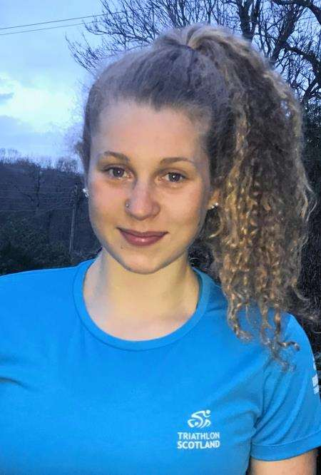 Training hard in Stirling this week, Moray teenager Sophia Green gained promotion to the Scottish triathlon development squad.