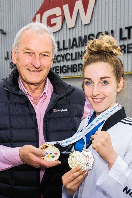 Martial arts star Adele Williamson's Olympic dream has lent support from her grandfather, Elgin businessman Douglas.