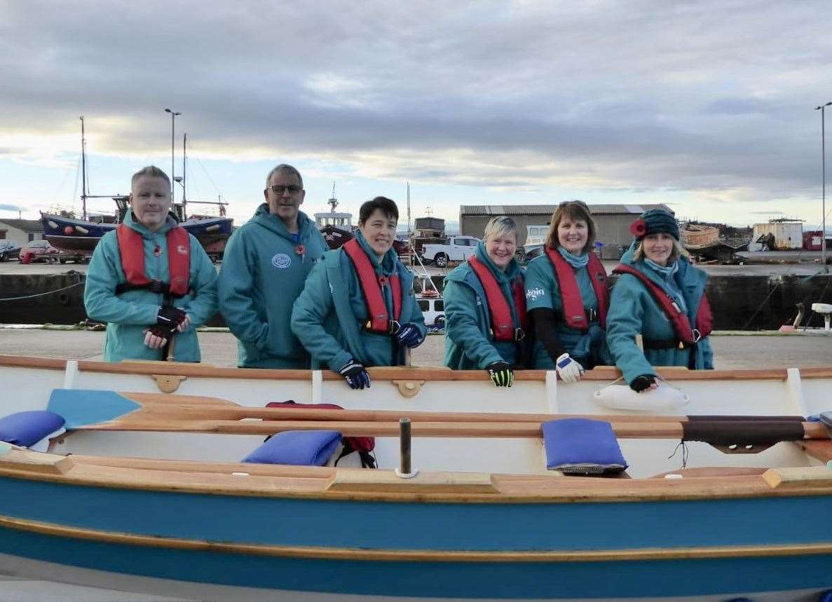 Captain Julie Stewart (right) and some of her Burghead Coastal Rowing Club team-mates who are heading to the world championships.