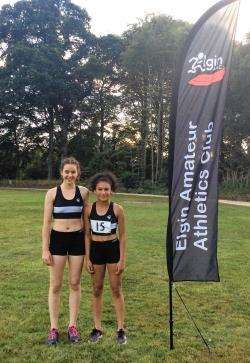 Hannah Kingham and Tamsin Fowlie are flying the Elgin AAC flag on the international arena this weekend