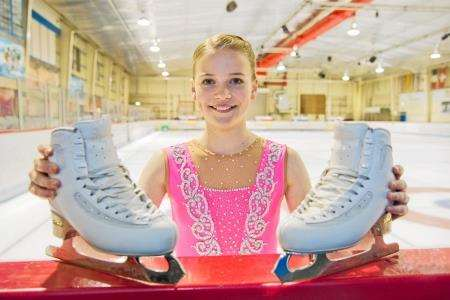 Ice skater Ruby Boyd has been selected for Team GB Ice Skating team competing in Riga next month. Picture: Daniel Forsyth. Image No. 039041