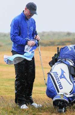 Inverness golfer Murray Urquhart on the course at Moray.