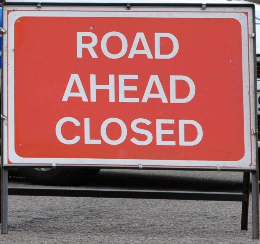 Moray Council has closed the B9103 at Inchberry Railway Bridge due to flooding.