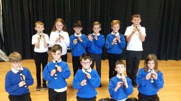Primary 5 pupils from Hythehill in Lossiemouth are having free recorder lessons, thanks to funding from Creative Scotland's Youth Music Initiative.