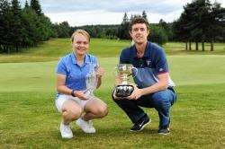 Elgin Open winners Carinne Taylor and Michael Watson
