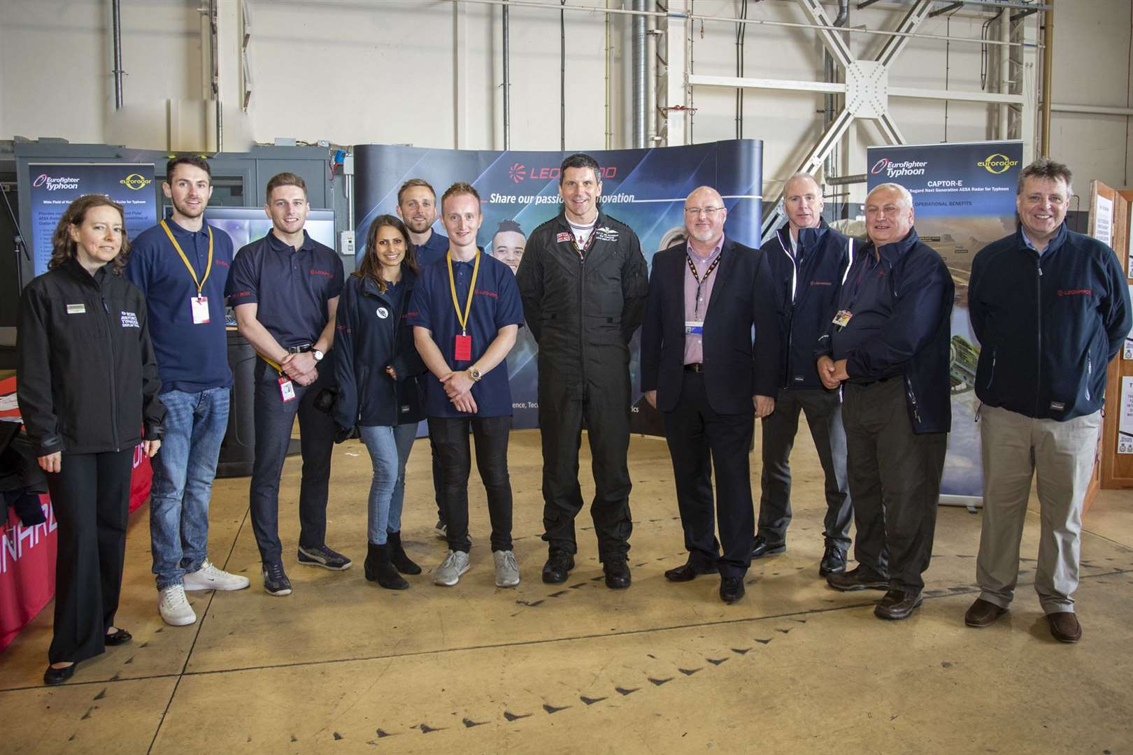 Leonardo apprentices and graduates were on hand at RAF Lossiemouth to showcase technology.
