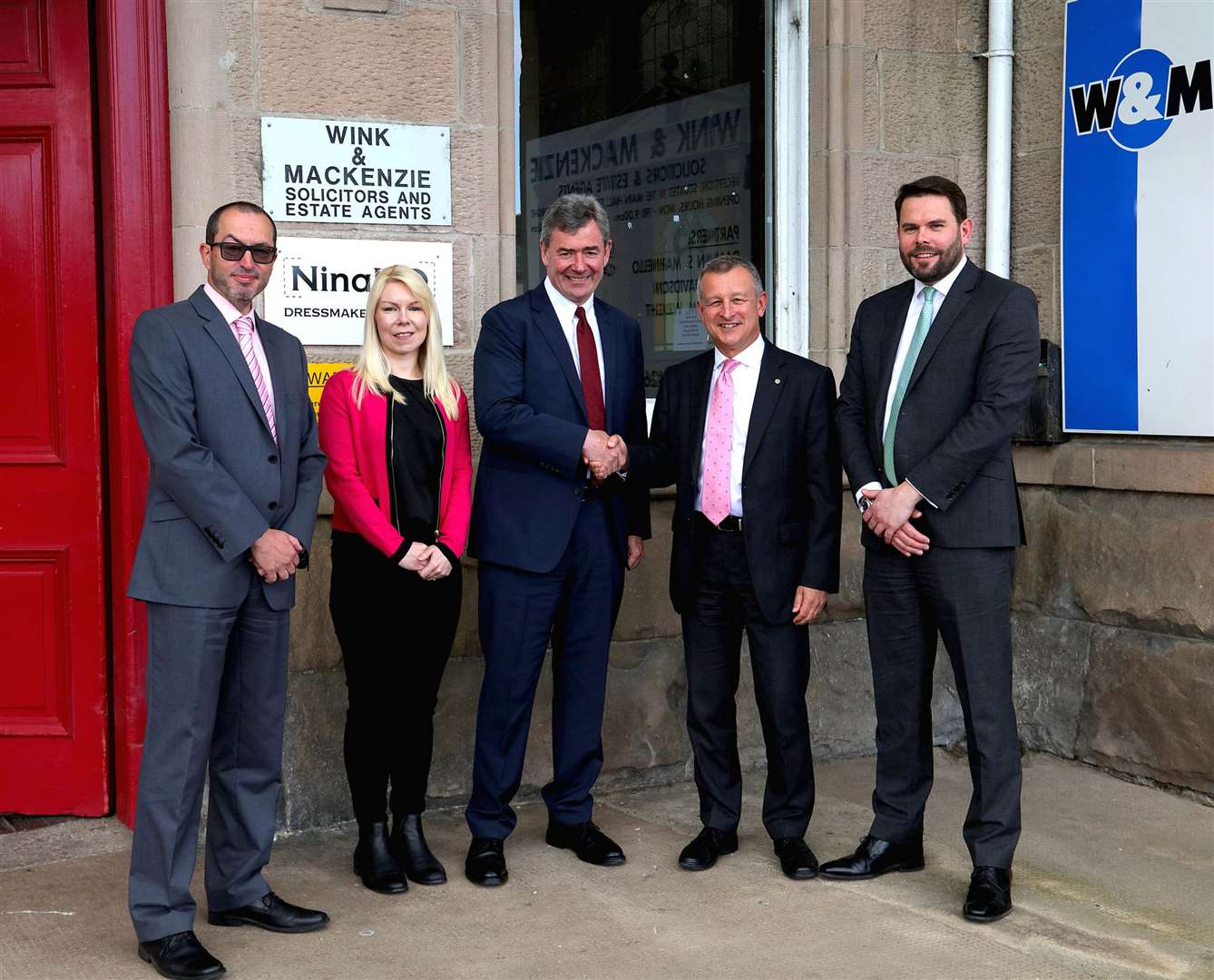 From left, Damian Marinello, Lauren Wright, Professor Lorne Crerar CBE, Ian Davidson and Chris Kerr.