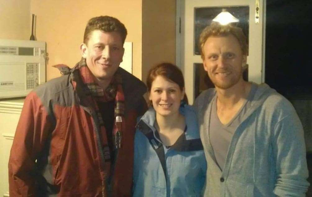 Paul and his wife Shona Donaldson with Kevin McKidd
